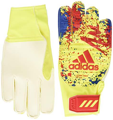 adidas Classic Trn J - Guantes de Portero, Unisex Niños, Solar Yellow/Active Red/Football Blue, 6