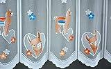 Clever-Kauf-24 Scheibengardine Lama Höhe 50cm | Breite der Gardine frei wählbar in 15,5cm Schritten | Kinderzimmer Gardine | Panneaux Multicolor |