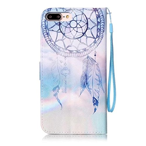 Cover iPhone 7 Plus,iPhone 8 Plus Coque,Valenth [Pu Leather] Portefeuille Coque Etui [Stand Feather] Flip Coque avec embouts pour iPhone 8 Plus / iPhone 7 Plus 11#
