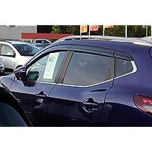 Autoclover Nissan Qashqai 2014 + Set de deflectores de viento (6 piezas) (mojado