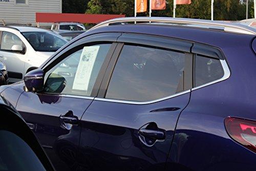 Autoclover Nissan Qashqai 2014und Windabweiser-Set (6-teilig),