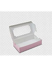 Schmancy Brownie Box , 23x12.5x5 cm, Pink for 6 - Pack of 10