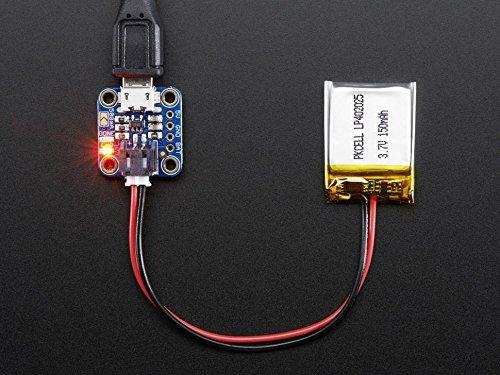 Adafruit Micro Lipo w/MicroUSB Jack - USB LiIon/LiPoly charger - v1 [ADA1904]