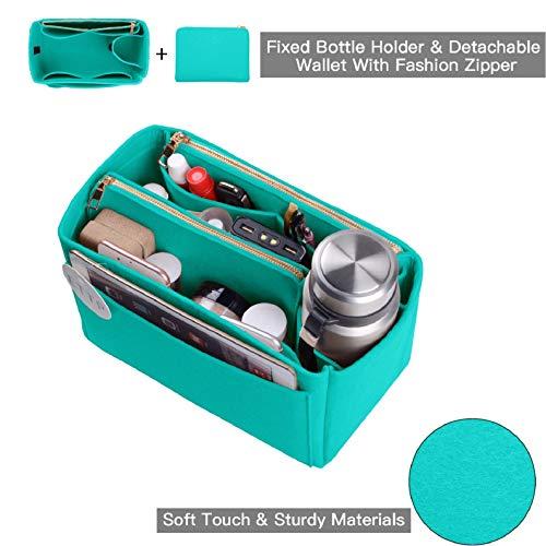 ETTP Portemonnaie Organizer, Filztasche, Organizer für LV Speedy, Neverfull, Tote, Handtasche, Shaper, 3 Größen, (tiffany blue), X-Large