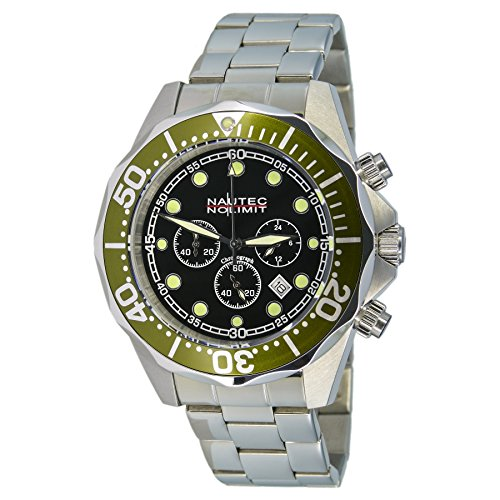 Nautec No Limit DS-B QZ2/STSTGRBK - Reloj de pulsera hombre, acero inoxidable, color plateado