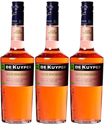 De Kuyper Sour Rhabarber (3 x 0.7 l) - Sec Triple Sirup