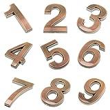 MagiDeal 1-9 Zeichen Zahlen Nummer DIY Aufkleber Sticker Haustür Hotel Plaque Zimmer Dekor