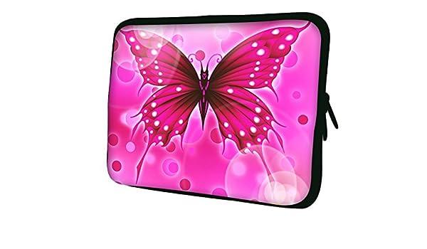 Luxburg EK10528 New Design Neoprene Sleeve Soft Case Bag for 17 inch Notebook//Laptop//Tablet Multicolor Big Pink Butterfly