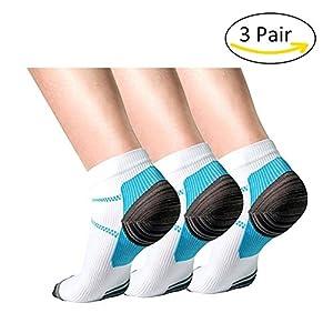Aisprts Kompressionssocken, Plantarfasziitis Socken Kompressionsstrümpfe Laufsocken für Damen und Herren, lindern Schmerzen, unterstützen Ferse, Fußbogen und Knöchel