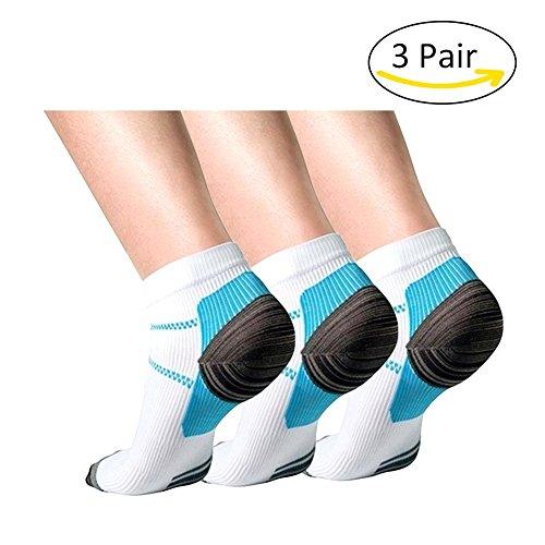 Plantarfasziitis-Socken, 3er-Packung, Fußpflege, Kompressionsstrümpfe, Laufsocken, für Damen und Herren, lindern Schmerzen, unterstützen Ferse, Fußbogen und Knöchel, UK20171017005, L-XL