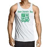 lepni.me Weste Saint Patrick's Day Shamrock Symbol - Irish Party time (Medium Weiß Mehrfarben)