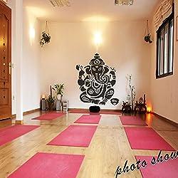 """mairgwall budismo vinilo Mural Ganesh indio adhesivo Namaste Buda adhesivo Yoga Arte Gráfico, vinilo, Custom, 72""""h x60""""w"""