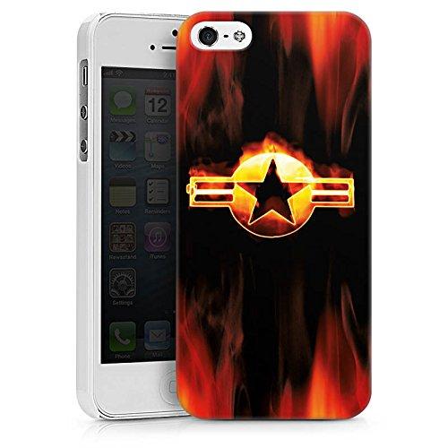 Apple iPhone X Silikon Hülle Case Schutzhülle Stern Emblem Flammen Hard Case weiß