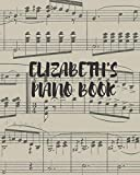 Elizabeth's piano book: For noting down Elizabeth's favourite music, Oasis, the Beatles and more.