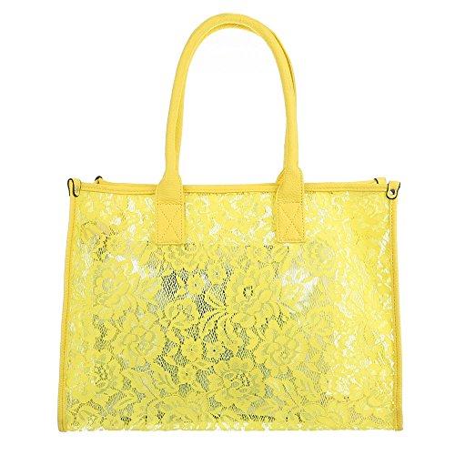 Handtasche Tragetasche Beige Gelb