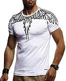 LEIF NELSON Herren Jungen Männer T-Shirt Hoodie Sweatshirt Crew Neck Rundhals Ausschnitt Kurzarm Longsleeve Modernes