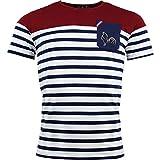 Religion Rugby - T-Shirt de Rugby Marinière - L'aquitaine - 3XL