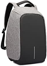 Rewy AT-1556 Anti Theft Backpack Business Laptop Bag with USB Charging Port Waterproof Camping Organizer Bag and Built in Charging Port for College and Office Work Anti Theft Bag - Assorted Colour