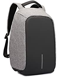 REWYOzoy Zofey Business Anti-Theft Fabric Water Resistant USB Charging Port Black Laptop Backpack