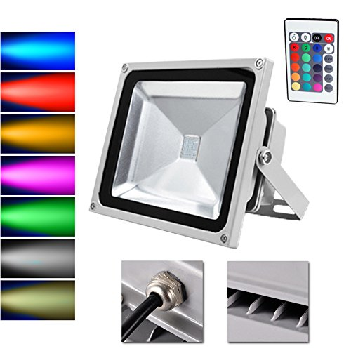 Preisvergleich Produktbild VINGO® LED 30W RGB Flutlicht Strahler Außen Fluter Wasserdicht mit Fembedienung Gartenleuchte