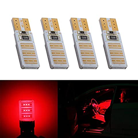 S&D 4 X T10 High Power LED Bulbs Canbus Error Free COB Lamp W5W 501 led car bulbs interior Lights Car Light Source parking 12V