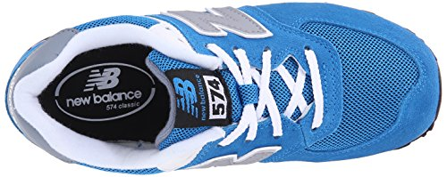 New Balance - Kl574p2p Scarpe Stringate Bambino Blu bleu blue grey 462