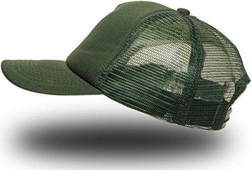 Trucker Cap Mütze Classic Happy für Herren und Damen, One Size Snapback (Dark Green)