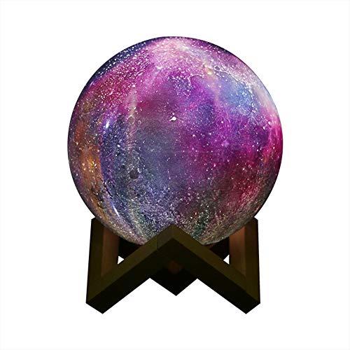 FFSS LED Estrellado Pintado Luz de la Luna en 3D Control Remoto...