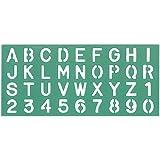 Linex - Juego de plantillas (10 mm, 20 mm y 30 mm, juego de 3 unidades), color verde