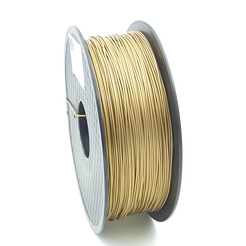 SIENOC 1 Packung 3D Drucker PLA 1.75mm Printer Filament - Mit Spule 1kg (Gold)