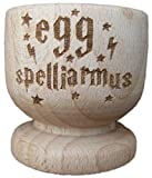 Eierbecher aus Holz von FastCraft, Motiv von Harry Potter inspiriert, als Geschenk für die Hauseinweihung, zum Geburtstag, holz, 2er-Set