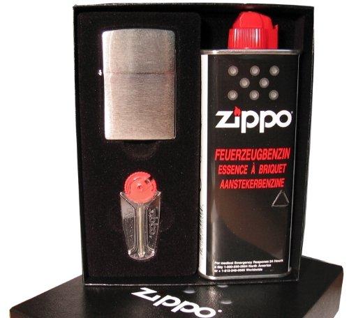 ZIPPO Feuerzeug - Metall (Benzin-Feuerzeuge), EGAFF3916764, Geschenk-SET (Zippo-feuerzeug Aus Metall)