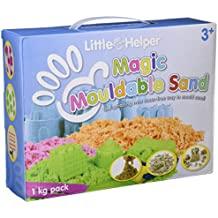 Little Helper - Arena mágica moldeable con bandeja de plástico