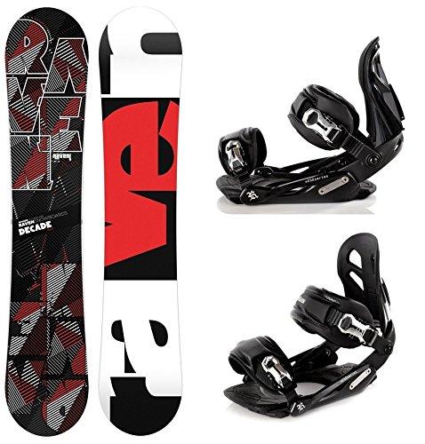 Snowboard Set: Snowboard Raven Decade Carbon + Bindung Raven s250 Black M/L