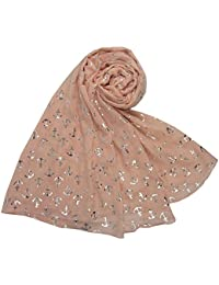 Pink and Silver Shimmer Anchor Scarf Ladies Fashion Scarves