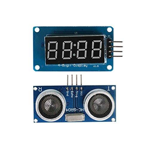 IMHERE W U HC-SR04 Ultraschall-Abstandsmessung + Display-Modul für Arduino
