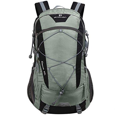 ac69766f27909 Fafada 40L Wanderrucksack Damen Herren Unisex Wasserdicht Rucksack  Trekkingrucksack Daypack Reiserucksack Outdoorrucksack Trekking Camping  (40L Grau)