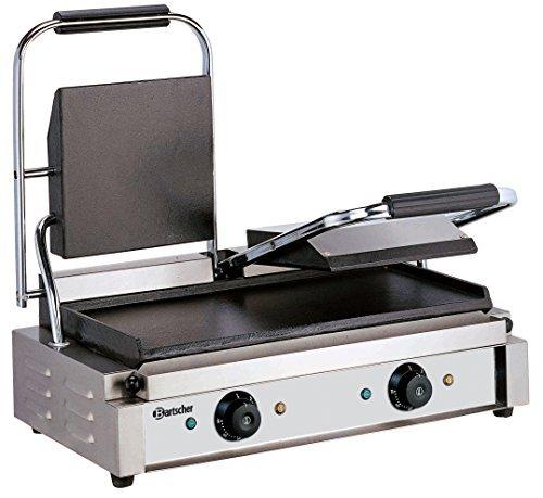 bartscher-elektrische-dubbele-contact-grill-grillplaten-glad
