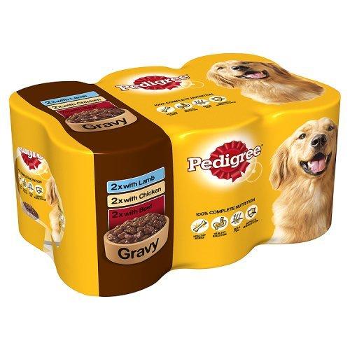 pedigree-dog-tins-mixed-selection-in-gravy-6-x-400g