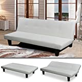 'SOFIA' SCHLAFSOFA Weiss BETTSOFA SCHLAFCOUCH SOFA BETTCOUCH LOUNGE COUCH (Weiss)