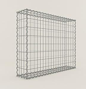 Panier gabion/100 x 80 x 20 cm, largeur de maille 5 x 10 cm, neu