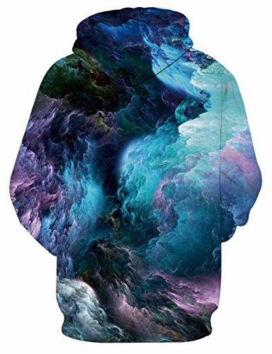 LAIDIPAS Unisex Realistische 3D Galaxy bedruckte große Taschen Drawstring Pullover Hoodie Kapuzen Sweatshirt Style 8