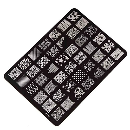 Vovotrade Nail Stamping Printing Plate Manucure Nail Decor image Timbres Plaque XY-15