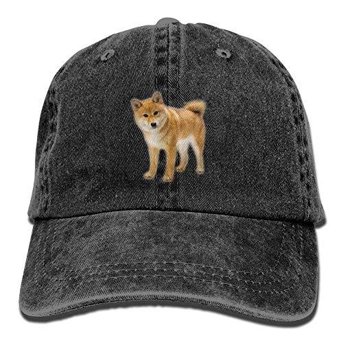 Hoswee Unisex Kappe/Baseballkappe, Cute Shiba Inu Denim Hat Adjustable Women's Classic Baseball Hat - Schwarzen Hut 49ers Alle