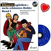 Chitarra Giocare–Il Mio Hobby 1–Chitarra moderna Scuola per Ragazzi e Adulti di Rolf toennes–con CD e colorata herzfoermiger Note KLAMMER