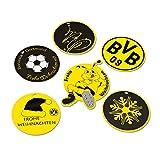 Borussia Dortmund Weihnachts-Geschenkanhänger, Schwarzgelb, Papier, 6 Stück in einem Set one size