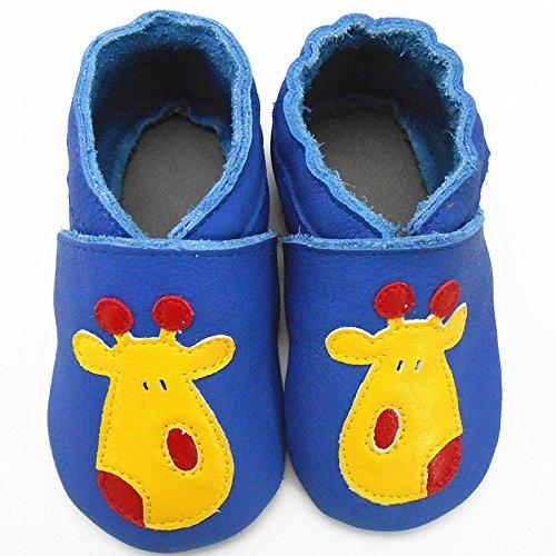 Sayoyo Nette Deer WeichesLeder Lauflernschuhe Krabbelschuhe Babyschuhe Blau