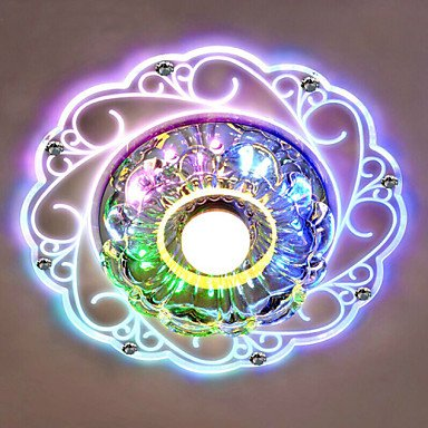 JJ LED modernes plafonniers 20*12cm Crystal Ceiling Lamp LED spotlight SMD 3W Lampe créatif d'éclairage du tube plafonnier , couleur colorés multi couleurs-(220V-240V)