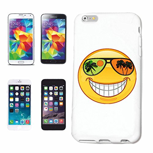 Handyhülle iPhone 7S SMILEY IM URLAUB AUF EINER SÜDSEEINSEL MIT SONNENBRILLE SMILEYS SMILIES ANDROID IPHONE EMOTICONS IOS GRINSE GESICHT EMOTICON APP Hardcase Schutzhülle Handycover Smart Cover für A