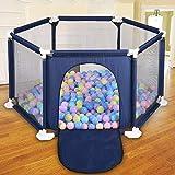 Dream-cool Zaun für Kinder Kinderspiel Faltbarer Zaun Outdoor sechsseitiger Sicherheitszaun Bunte...